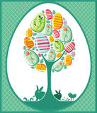 Easter tree card Royalty Free Stock Image