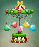 Easter tree carousel Royalty Free Stock Photography