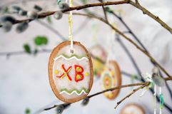 Easter tree with gingerbreads Stock Photos