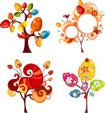 Easter tree set vector illustration