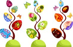 Easter tree set Royalty Free Stock Images