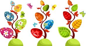 Easter tree set Stock Images