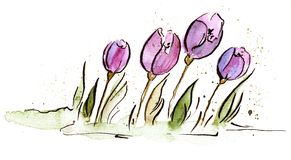 Easter tulip illustration Royalty Free Stock Photos