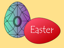 Easter. Two Easter eggs for a happy holiday Stock Illustration