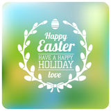 Easter Typographical Background Royalty Free Stock Image