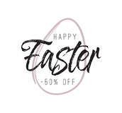 Easter typography design. Stock Photos