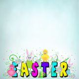 Easter Typogrpahy Background Stock Photos