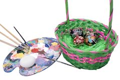 Easter Ukrainian Egg Painting Workshop Royalty Free Stock Photography