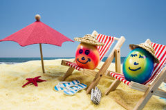 Easter vacation at beach stock images