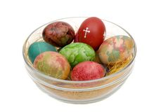 Easter varicoloured eggs Stock Photo
