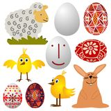 Easter - various elements Royalty Free Stock Images
