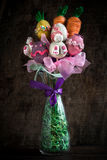 Easter vase with cake pops Stock Images