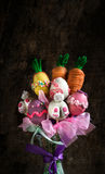 Easter vase with cake pops Stock Photo
