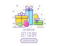 Easter vector banner Royalty Free Stock Photo