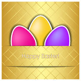 Easter vector card Royalty Free Stock Image