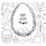 Easter vector doodle set Stock Photography