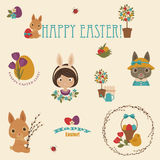 Easter vector icons set Royalty Free Stock Image