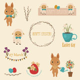 Easter vector icons set Stock Photography