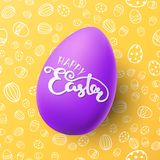 Easter vector illustration with egg Royalty Free Stock Photo