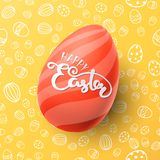 Easter vector illustration with egg Stock Photo
