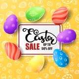 Easter vector illustration with egg Stock Images