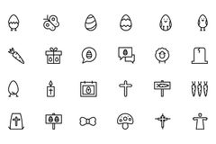 Easter Vector Line Icons 6 Royalty Free Stock Images