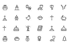 Easter Vector Line Icons 6 Royalty Free Stock Photo
