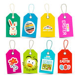 Easter Vector Paper Labels Set Stock Photo