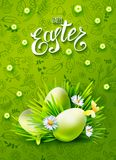 Easter vector poster Stock Photography