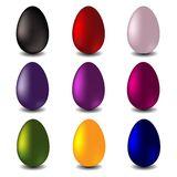 Easter vector set - eggs Royalty Free Stock Image