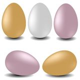 Easter vector set - eggs. Easter vector set - colorful eggs Royalty Free Stock Images