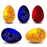 Easter vector set - eggs. Easter vector set - colorful eggs Stock Image