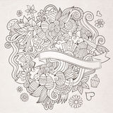 Easter vector sketch background Stock Photo