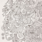 Easter vector sketch background Royalty Free Stock Images
