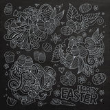 Easter vector symbols and objects Royalty Free Stock Photos