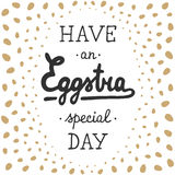 Easter vector typography design elements for greeting cards Stock Photo