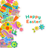 Easter vertical background Royalty Free Stock Image