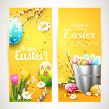 Easter vertical banners Stock Photography
