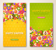 Easter Vertical Banners Set Royalty Free Stock Image