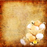 Easter vintage background Stock Image
