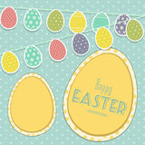Easter vintage background with egg bunting Royalty Free Stock Image