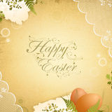 Easter vintage background with eggs Stock Photography