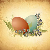 Easter vintage background with eggs Royalty Free Stock Photos