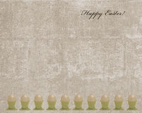 Easter vintage card with egg frame Stock Photo