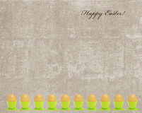 Easter vintage card with gold egg frame Royalty Free Stock Images