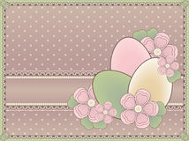 Easter vintage card Stock Photography