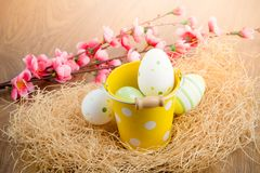 Easter vintage decoration Royalty Free Stock Photo