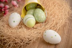 Easter vintage decoration Royalty Free Stock Photos