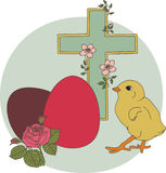 Easter vintage illustration. Stock Photos