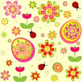 Easter wallpaper with applique print Royalty Free Stock Images